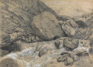 Waterval in de Pyreneeën