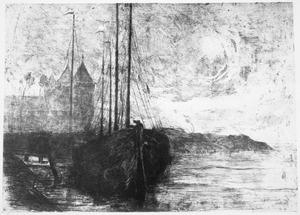 Zeilschip op een rivier