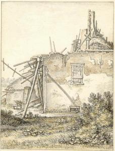 Ruïne van een boerderij in het buurtschap Abstede ten zuidoosten van Utrecht