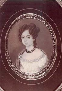 Portret van Sophia Wilhelmina Wiselius (1799-1856)