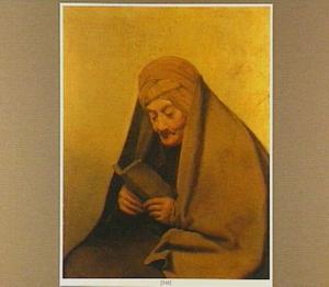 Oude vrouw met boek