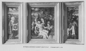 De H. Veronica (links); De bewening (midden); Jozef van Arimathea (rechts)