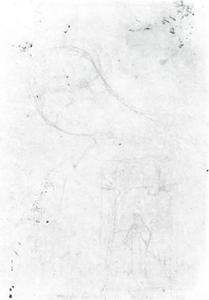 Woman with closed eyes and landscape with figure
