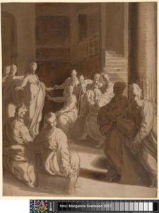 De twaalfjarige Christus in de tempel onderwijzend