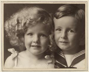 Dubbelportret van de kinderen van jhr. Schimmelpenninck
