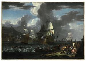 Een Hollands vlaggeschip in een mediterrane haven