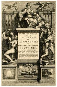 Titelpagina voor M. de Morgues, Diverses Pieces pour la Defense de la Royne Mere, Antwerpen 1637