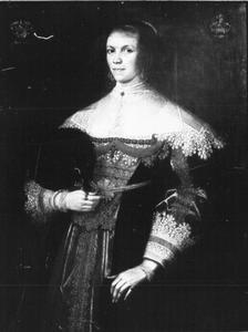 Portret van Christina Elisabeth Voetz, geboren Cran