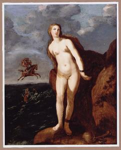 Perseus als redder van de aan de rots gekluisterde Andromeda