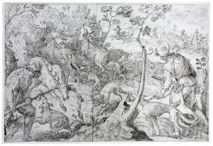 Hertenjacht met strikken en netten