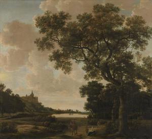 Landschap met de Zwanenburcht te Kleef, gezien vanuit het Kermisdal