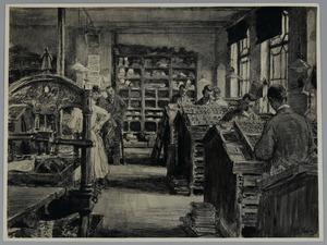 Zetterij in drukkerij Mouton
