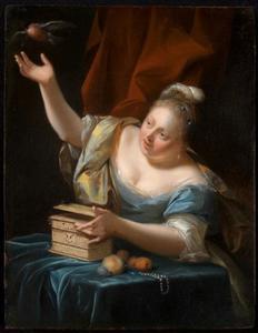 Vrouw met een vink
