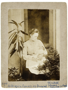 Portret van Alberdien van der Boom (?-?) en Elizabeth Johanna Egbert (1903-?)