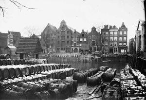 Gezicht op de Nieuwe Teertuinen te Amsterdam