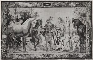 Presentatie van de paarden