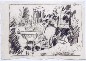 Studie van een tuin in St. Hippolyte