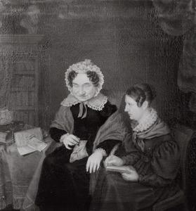 Dubbelportret van Petronella Moens (1762-1843) en A. Camphuis (....-....)