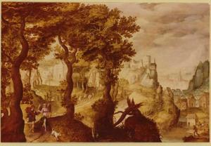Landschap met Tobias en de engel (Tobit 5-6)