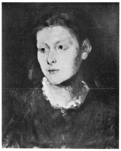 Portret van een melancholiek meisje