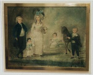 Portret van Willem Spiering (1749-1839), Anna Sandoz (1755-1809) en hun kinderen