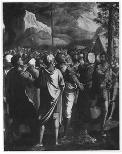De Israëlieten aan de voet van de berg Sinaï (?) (Exodus 19)