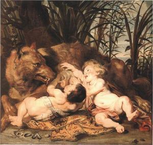 Romulus en Remus met de wolvin