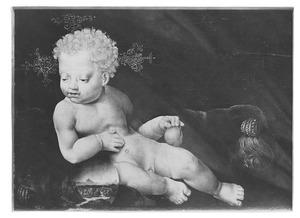 Het Christuskind met wereldbol en peer