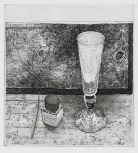 Glas met inktpotje
