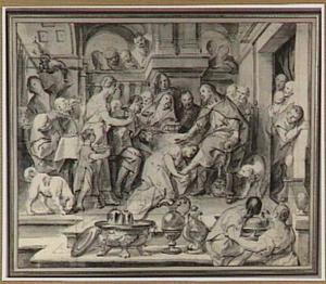 De voetwassing van Christus door Maria Magdalena (Mattheüs 26:6-13)