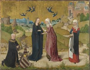 De visitatie met een portret van stichter Johann von Hirtz (?-?)
