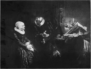 Dubbelportret van de  doopsgezinde predikant Cornelis Claesz. Anslo (1592-1646) en zijn vrouw Aeltje Gerritsdr. Schouten (....-....)