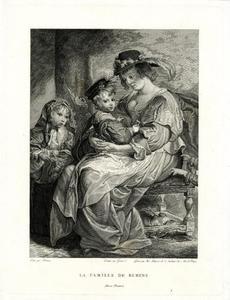 Portret van Helena Fourment (1614-1673) en Clara-Johanna (1632-1689) en Frans Rubens (1614-1673)