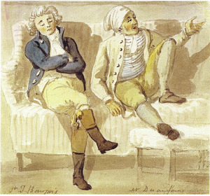 Portret van Francis Bourgeois en Noel Desenfans