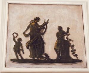 Klassieke scène met dansende figuren