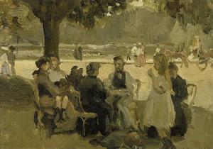 In het Bois de Boulogne bij Parijs