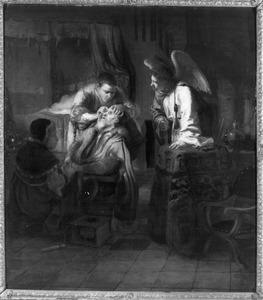 Tobias geneest zijn vader Tobit van blindheid (Tobias 11:13-15)