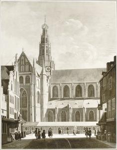 Gezicht op de Sint Bavo te Haarlem