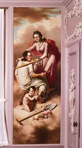 Allegorie met een juk en een spade