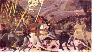 Niccolo Maruzi da Tolentino, in de verpletterende slag van San Romano