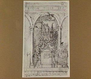 Ontwerp voor een preekstoel voor de Carolus Borromeuskerk te Antwerpen