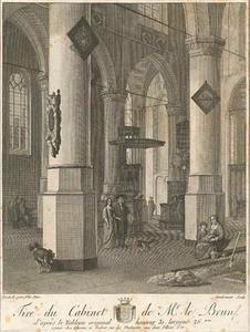 Interieur van de Nieuwe Kerk in Delft