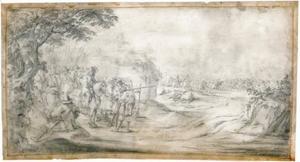 Soldaten bereiden zich voor op de veldslag