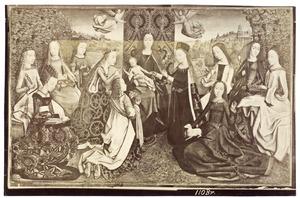 Maria met kind en elf vrouwelijke heiligen