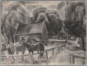 Paarden voor een boerderij