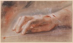 Studie van een rechterhand
