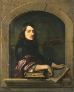 Zelfportret van Johann Ulrich Mayr (1630-1704)