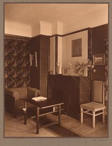 Woonkamer interieur van een huis in Den Haag, circa 1935
