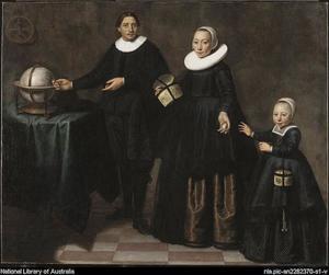 Portret van een familie, ten onrechte genaamd het gezin van Abel Tasman (1603-1659)