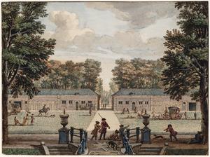 De stallen in het park van het Huis Heemstede bij Houten